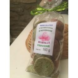 Macarons Verveine Myrtille sans Gluten (160g)