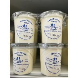 Yaourt nature au lait de vache x4