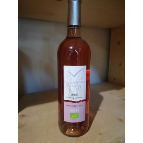 Vin rosé BIO ''Céllier des Gorges de l'Ardèche''