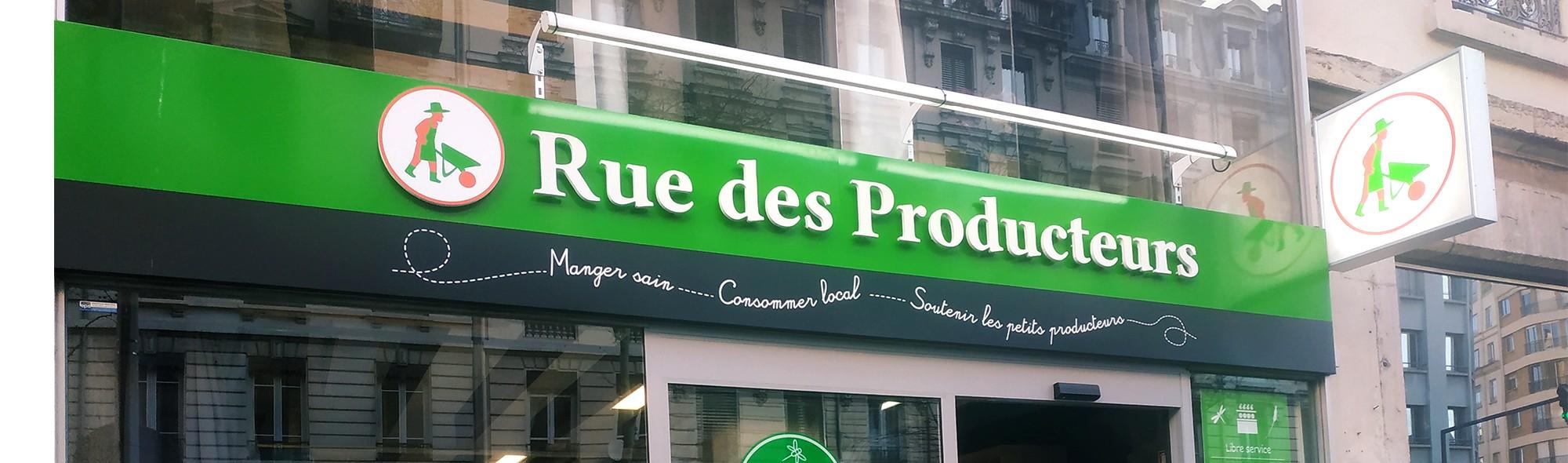 Vos magasins de producteurs  en ville